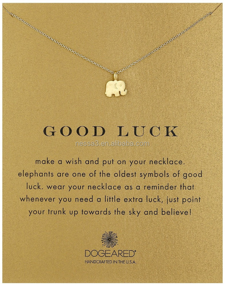 Fashion Gold Elephant Pendant <strong>Necklace</strong> Wholesale HY-0001