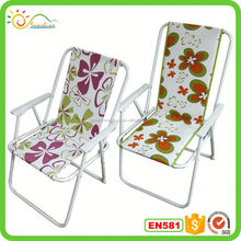 Adjustable Beach Chair with metal Armrest, Backpack Straps, for Carrying