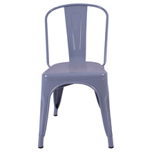 armless stacking indoor furniture Dining Steel High Back Metal Chairs
