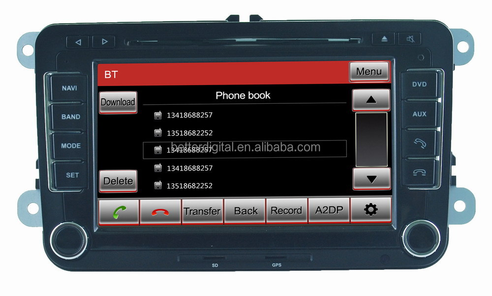 For vw transporter t5 car radio with CE and ROHS certificates