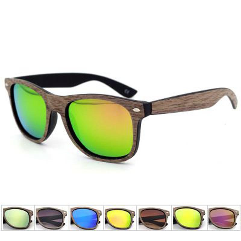 China OEM  Bamboo Temple sunglasses with Polarized PC lens Yiwu Market