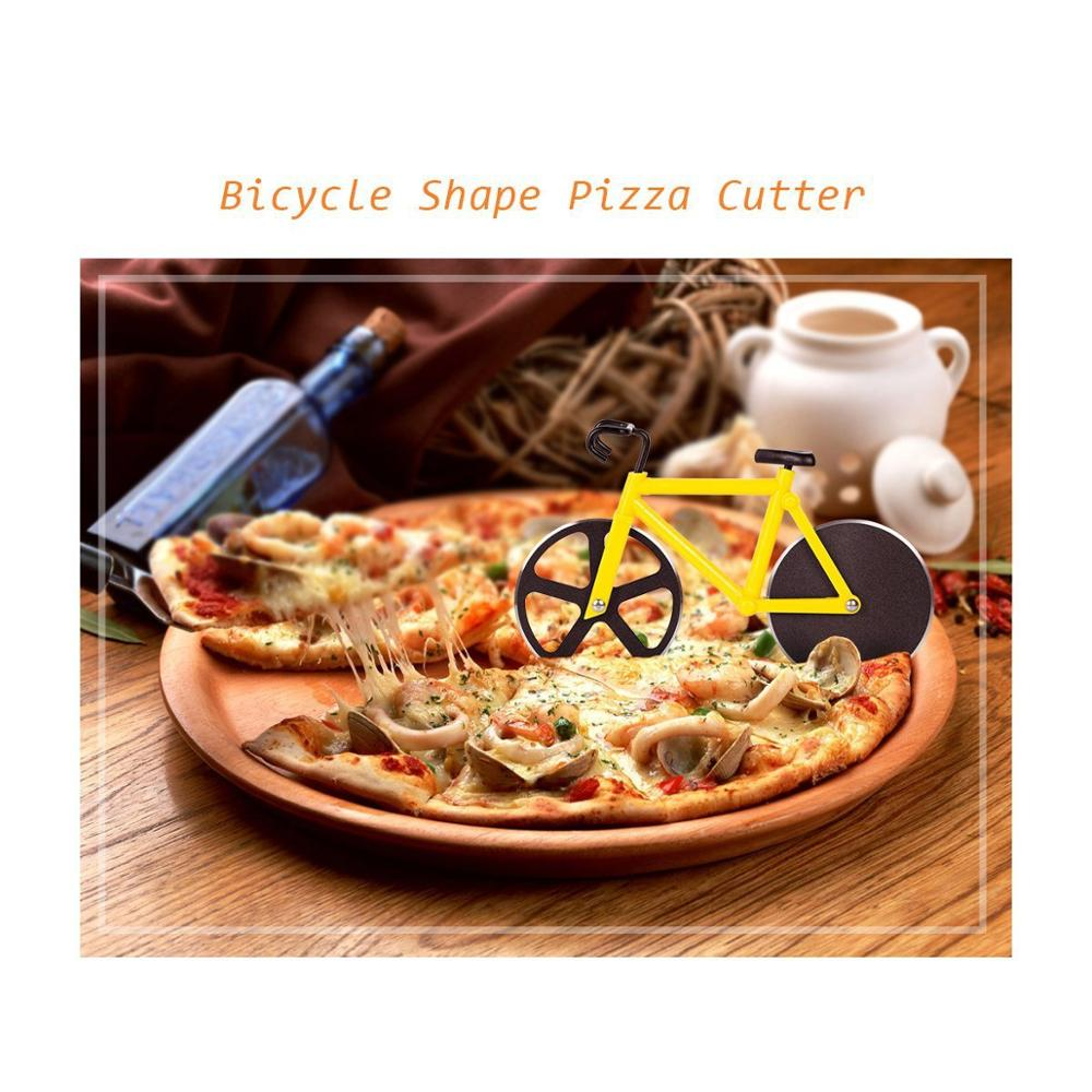 pizza cutter 5.5cm pizza turret 430 stainless steel double-wheeled pancake knife plastic handle baking cake cutting knife