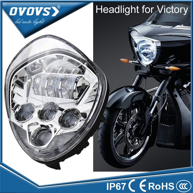 2016 Newest 60w led Motorcycle victory headlights kit 12v in automobiles & motorcycles