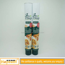 Wholesale custom design empty pet food packaging tube cosmetic soft aluminum collapsible tubes