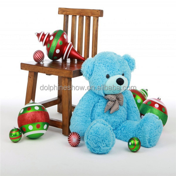 Cheap cute huge giant stuffed plush soft toy blue color teddy bear LOW MOQ big size plush bear toy for 200cm