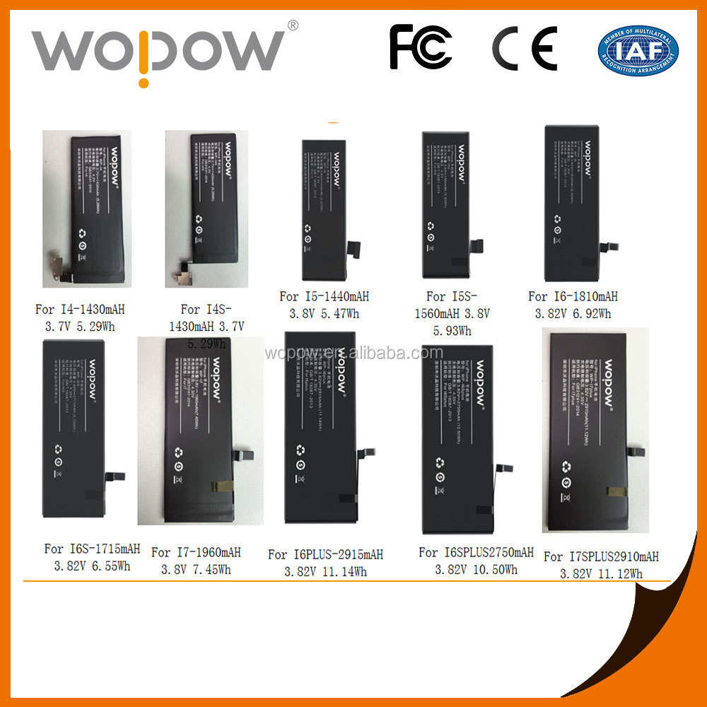 Wopow Hot selling Lithium 1715mah High Quality mobile phone Battery for iPhone 6s
