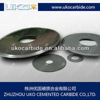 Tungsten carbide round blade with Negative Hook Angle
