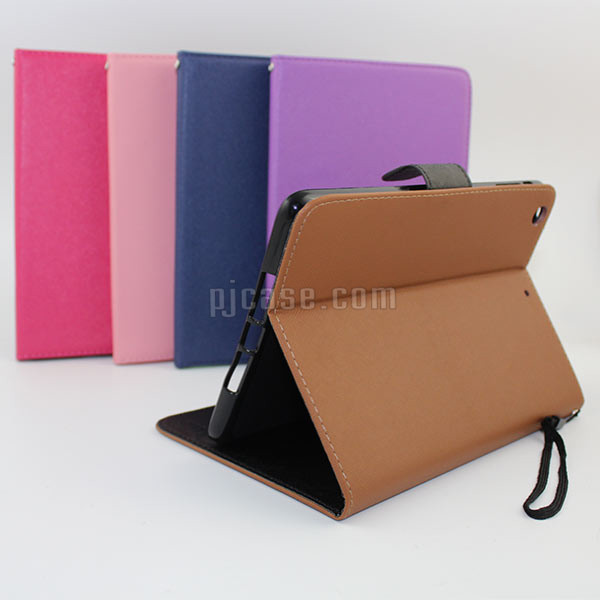 Leather stand cover case for ipad mini case compatible flip case for ipad mini 1, 2 , 3