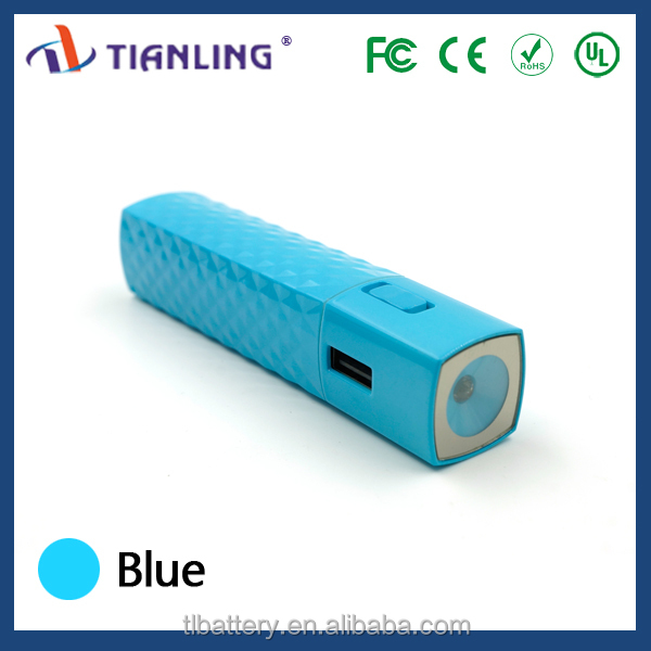 Portable 2600mah Power Bank With Led Torch
