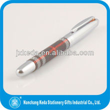 2014 Silver new design stainless steel braid pen