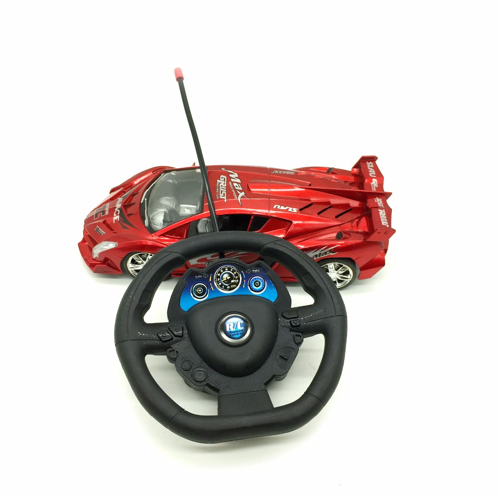 High speed racing steering wheel remote control car toys