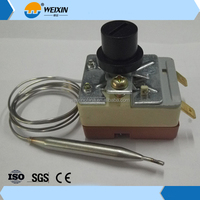 High quality capillary type thermostat for dryer, bottle cooler, cylinder washer, frying pan, electric oven