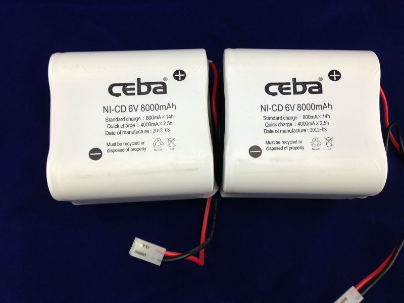 OEM Welcome Ni-Cd AA 600mah 6 .0 v Battery pack
