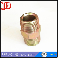 Galvanized Hydraulic Hose Adapter Hose Screw Couplers Rubber Hose Tail,BSPT NIPPLE SCREW