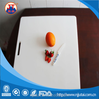Food safe easy carry white HDPE cutting board