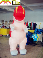 CILE 2015 hot selling custom inflatable dinosaur model(advertising, sales promotion, simulator, events)