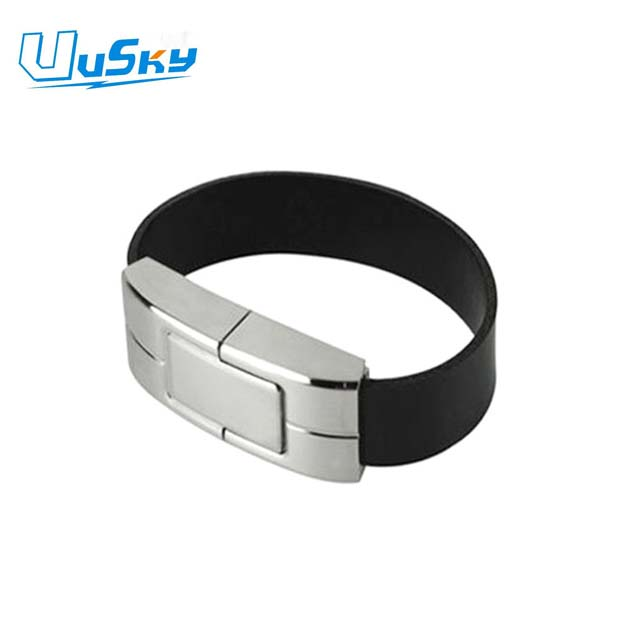 bracelet shape usb flash drive,leather bracelet usb flash drive housing