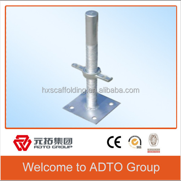 electro-plated scaffolding/swivel screw base jack/construction tools