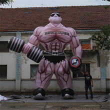 Outdoor giant anytime fitness inflatable muscle man inflatable/advertising custom shape inflatable muscle man