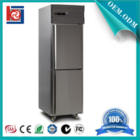 2 Doors Commercial Kitchen Equipment Stainless Steel Refrigerator and Freezer