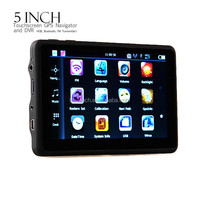 5 inch GPS Car DVR navigation with preload Map,FM,BT,AV-in