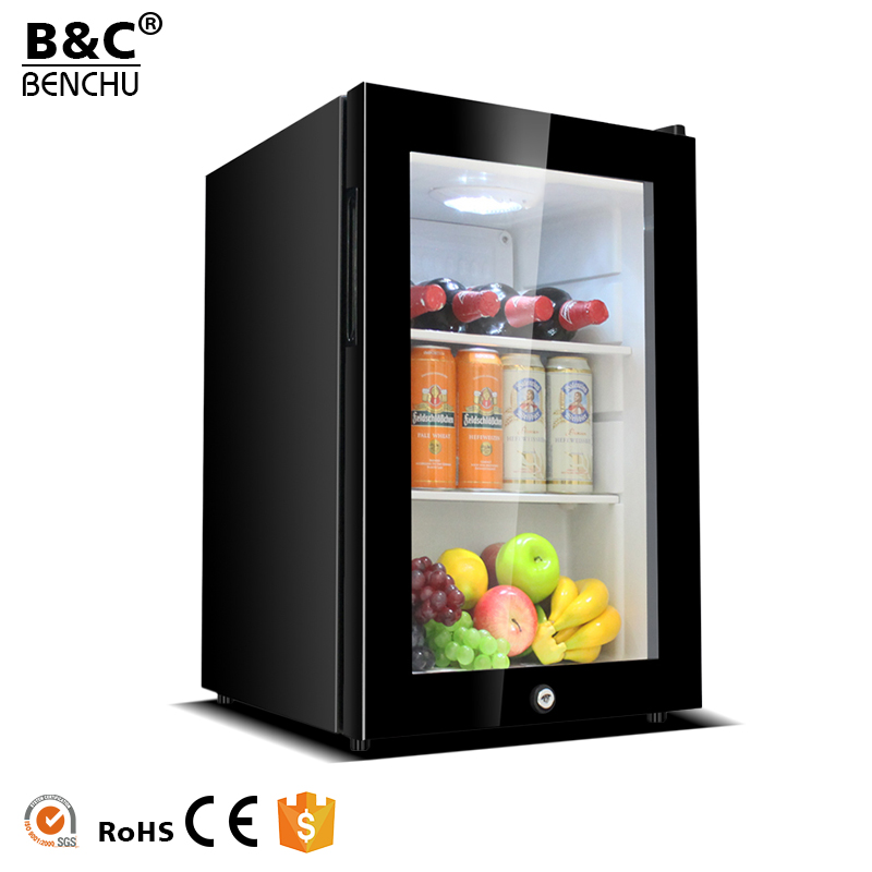 62L/95L Refrigerator Home <strong>Appliances</strong> Small Size Freezer / Mobile Home Fridge Freezer / Mini Bar Fridge with Glass Door