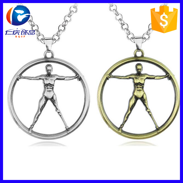 New Movie Westworld Necklace Hot TV Series 3D Logo Fashion Jewelry Robot Model Metal Pendant Link Chain