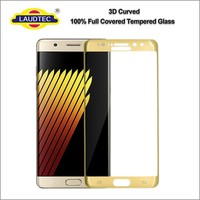 3D full cover 100% genuine tempered glass film screen protector guard for samsung galaxy note 7