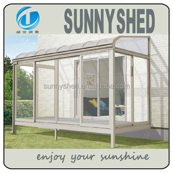 2015 Chinese aluminum sunroom with polycarbonate sheet
