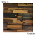 Natural Old Ship Wood Wall Mosaic Tile For Living Room