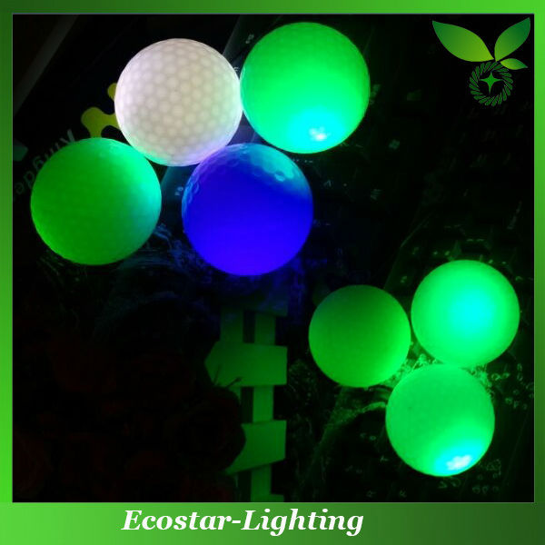 Fantasy fluorescent golf ball without battery
