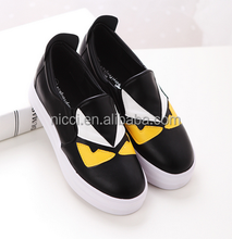 2015 women flat shoes casual loafers leather boat shoe