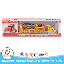 Hot selling 4 channel lighting musical rc car trailers with sliding cars