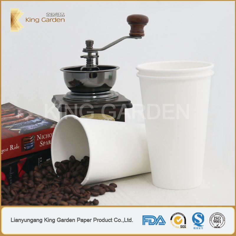Cup type milk shake disposable 16oz cold paper cups hot selling