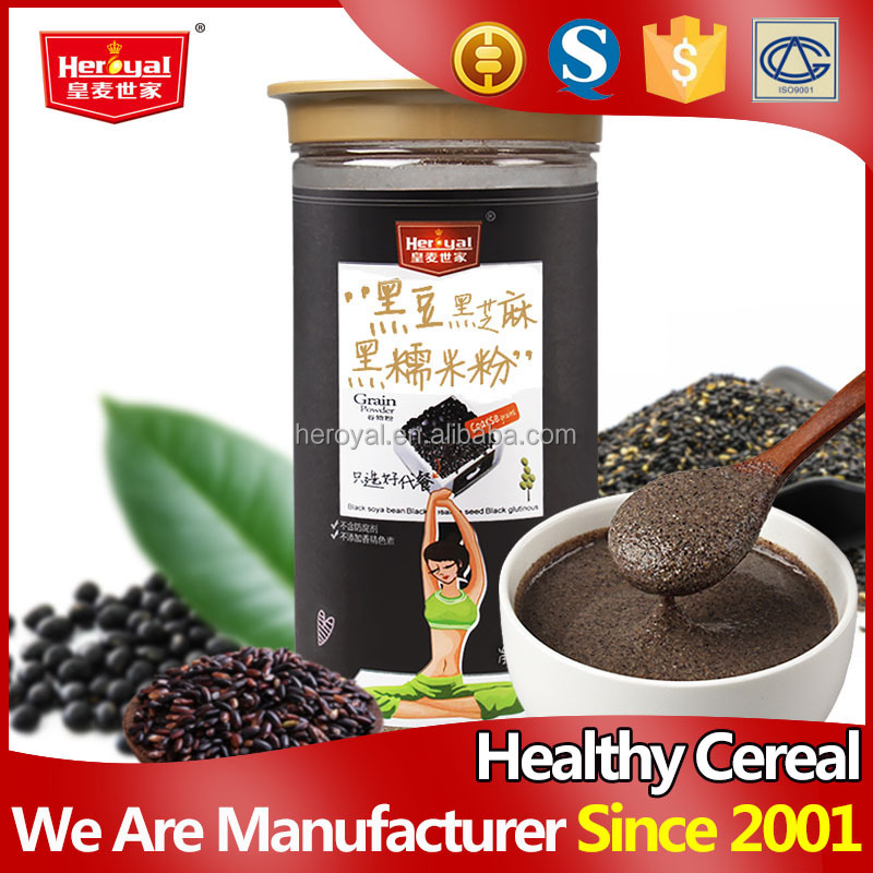 Energy instant black soybean black sesame black glutinous black rice flour