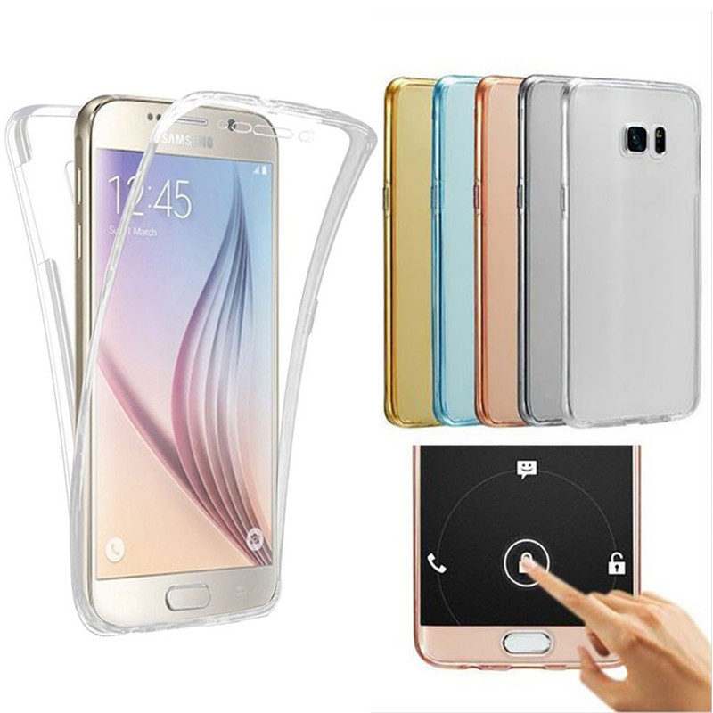 Wholesale Soft 360 Full Cover Tpu Case For Samsung Galaxy J3 J5 J7 A5 A3 A7 2016 2017 J4 J6 A8 A6 2018 S8 S9 Plus S7 S6 Edge