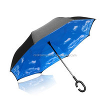 Double inverted folding umbrella windproof uv protection umbrella sun umbrella car
