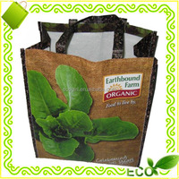 customized wholesale OEM logo BOPP laminated RPET promotional tote shopping recycle bag