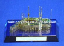 Holy Islamic Mosque Makkah Crystal Building Model Crystal Souvenirs Crystal Gifts With Base
