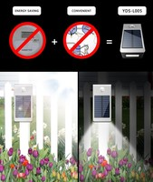 Yardshow LED Solar Power Motion Sensor Garden Security Lamp Waterproof Light