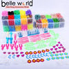 Rainbow Rubber Band Bracelet Loom Refill Kit Fun DIY for Kids four-layer Storage Case
