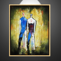 douple nude dancing women modern home decoration canvas art oil painting