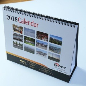 Customized logo pictures printing 2019 desk calendar