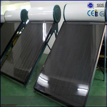 100L pressurized black chrome flat panel solar water heater
