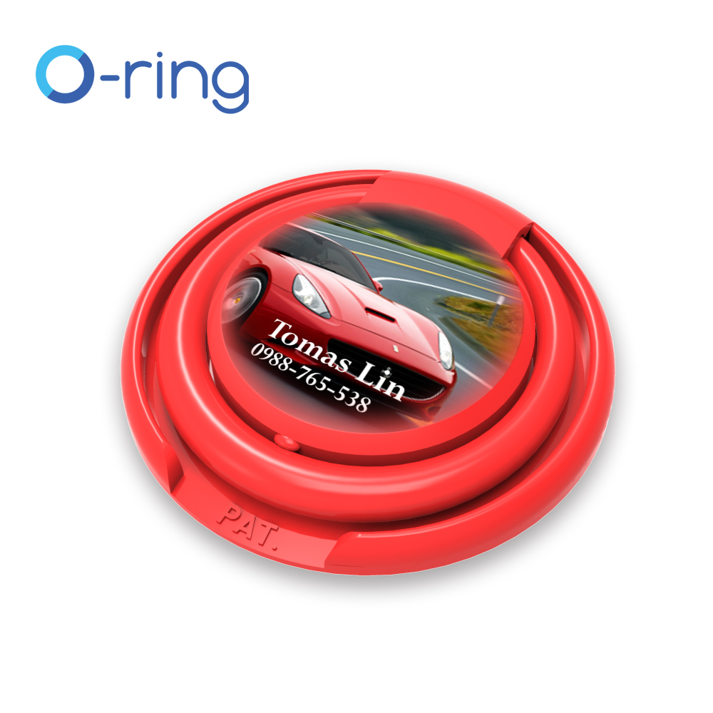 Free_Sample O-ring custom logo printable gifts plastic ring phone holder