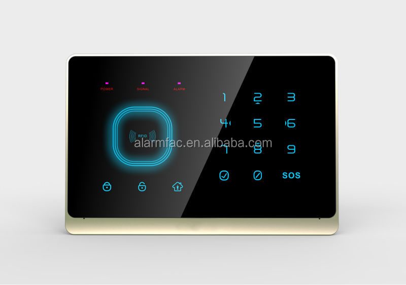 Wolf guard home automation !APP Control !RFID+Touch Keypad smart gsm SMS home security alarm system with alarm control keypad
