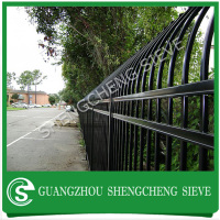 Heavy gauge security municipal facilities fencing square tube iron fence