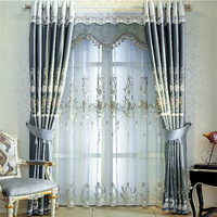 New double track Strong decorative home Manual Art track curtain