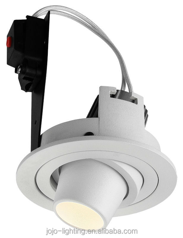 "2014 New products 9"" incandescent low voltage pinhole LED light trims recessed ceiling vertical reflector e27 down light"