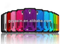 Animal design for samsung galaxy s4 case,Plastic and silicon combo rugged hard matte back cover for samsung